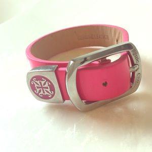 Hot pink Rustic Cuff bracelet